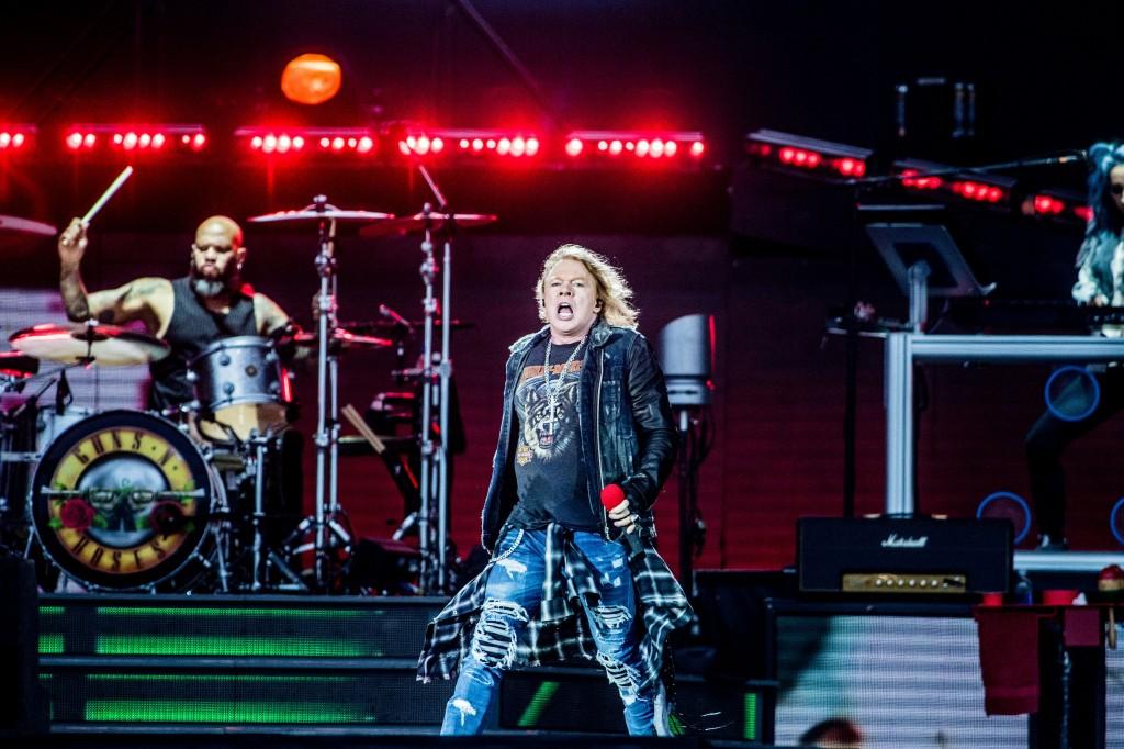BRUXELLES,  concert festival TW Classic Guns N Roses axl rose slash.GOLINVAUX MATHIEU./LESOIR